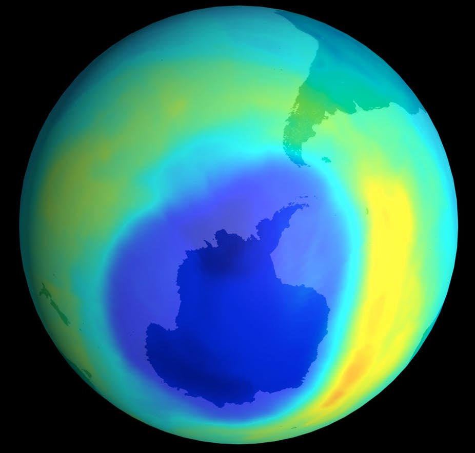 Antarctica's ozone hole has just got four new sources. PD-USGOV-NASA