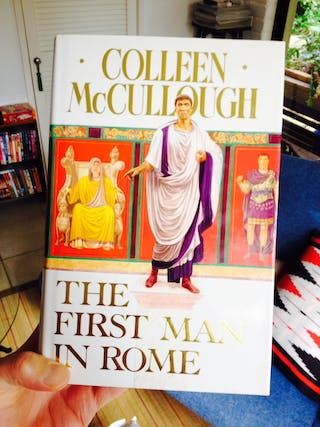 The case for The First Man in Rome by Colleen McCullough