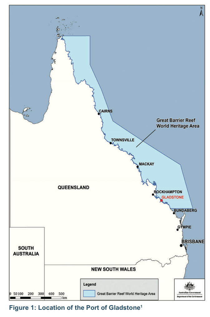 The Location Of Gladstones Port Along The Great Barrier Reef World Heritage Area Coastline Independent Review Of The Bund Wall At The Port Of Gladstone