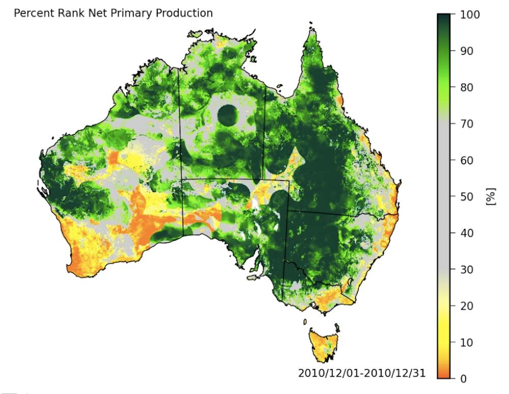 Giant Map Of Australia.Record Rains Made Australia A Giant Green Global Carbon Sink