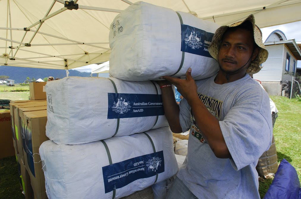 aus aid help towards papua new