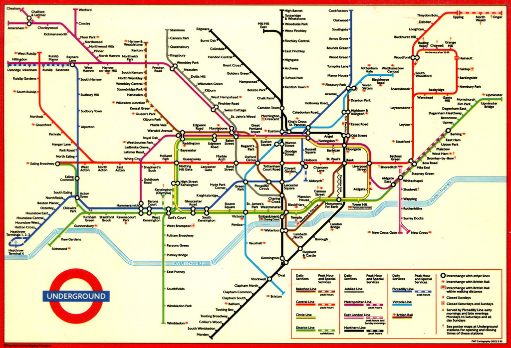 Sublime Design The London Underground Map: Underground Map In London At Infoasik.co