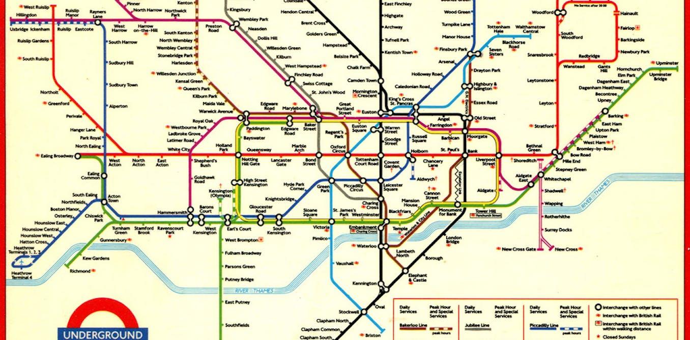 Map Of London Underground System.Sublime Design The London Underground Map