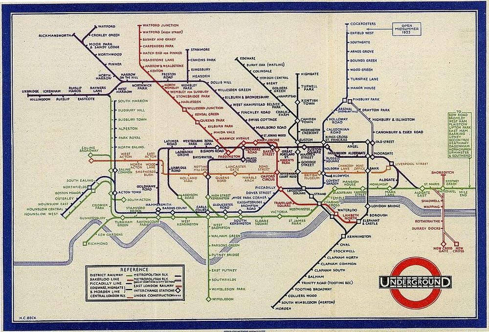How To Outline Story Like Subway Map.Sublime Design The London Underground Map