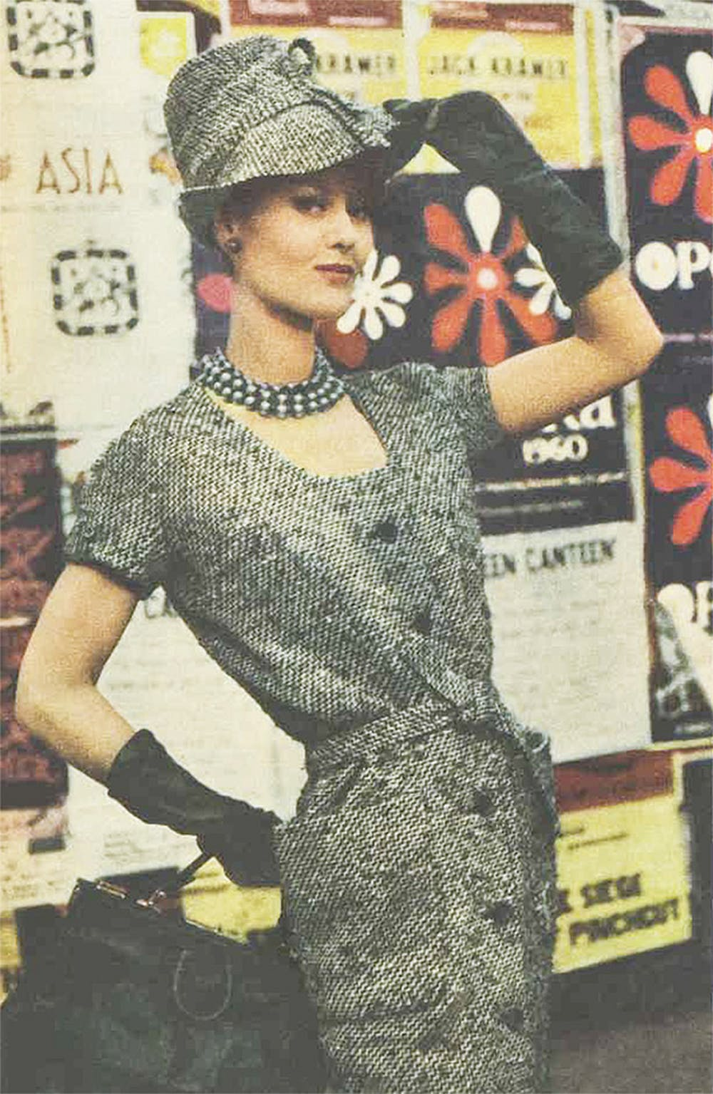 6758635a630 1960s tweed dress and hat