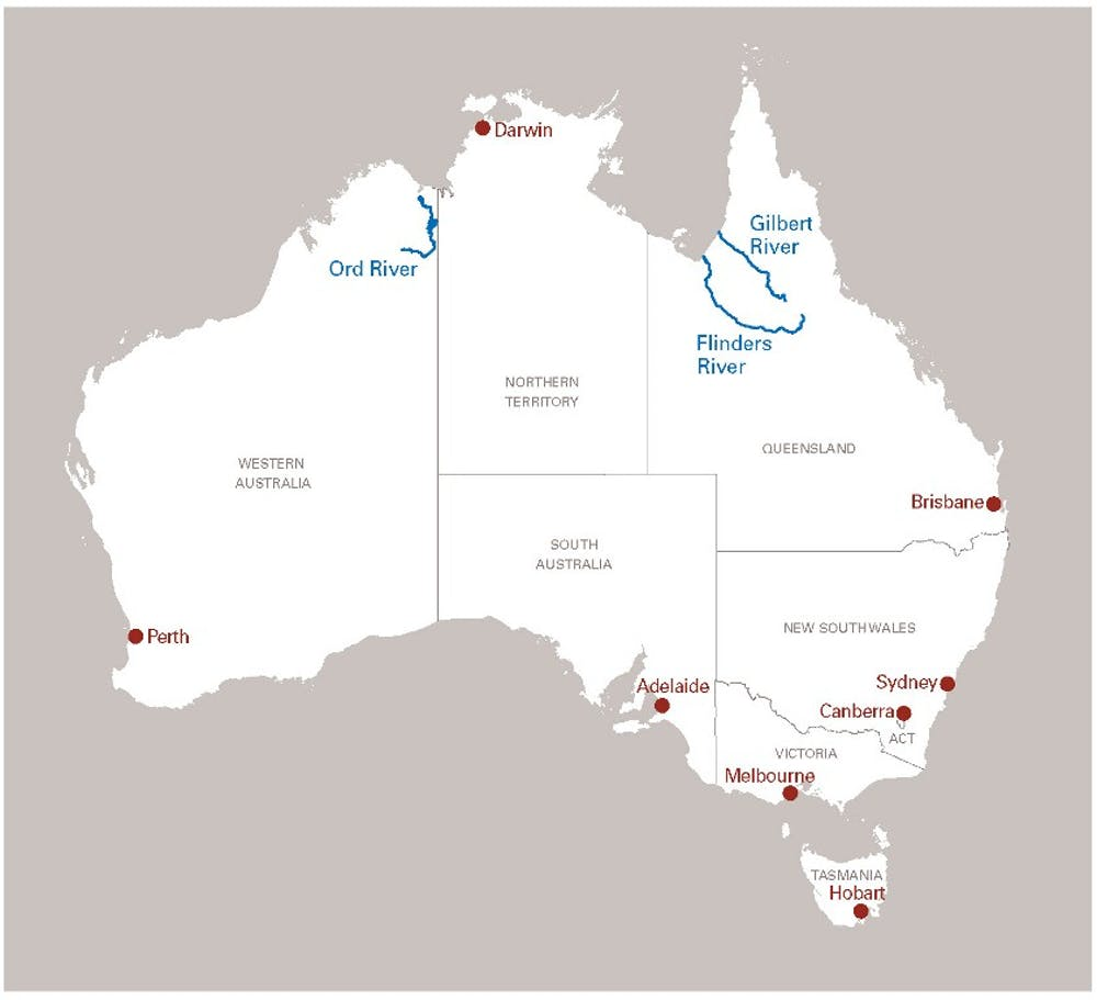 Giant Map Of Australia.Giant Steps Needed To Build Up Northern Australia S Potential