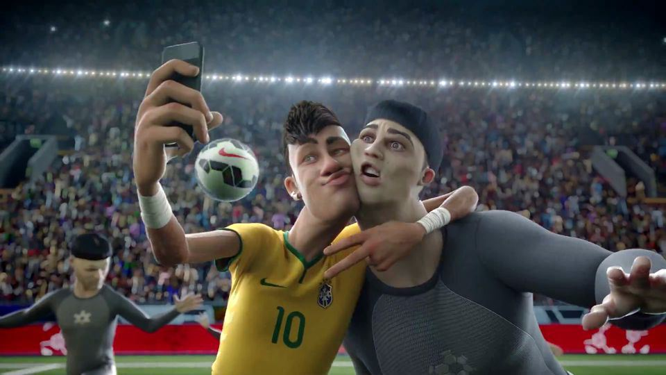 Nike The Last Game - Neymar posing for a selfie. Nike