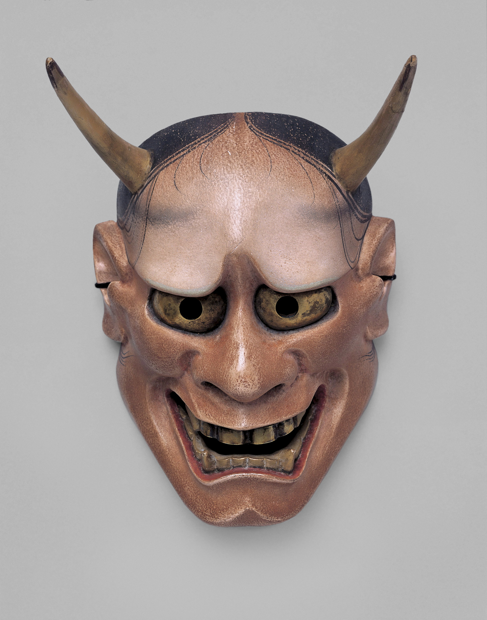 No Mask Aka Red Hannya Edo Period 18th 19th Century National Noh Theatre