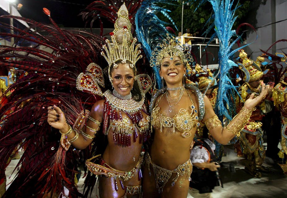 40b6db8c7c1 Samba's origins lie in the dances and religious practices of the West  African slaves. EPA/ Marcelo Sayao
