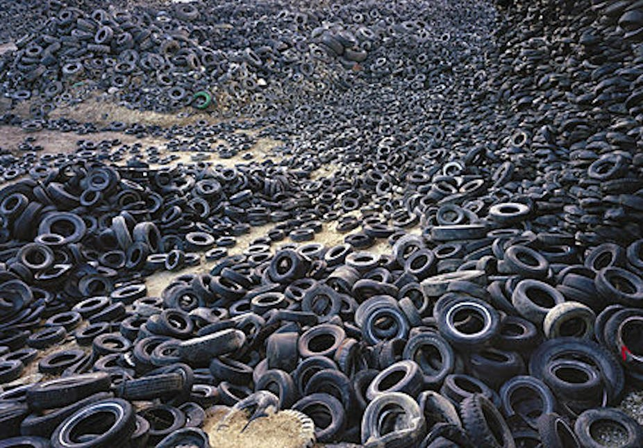 Recycling helps tyred-out rubber hit the road again