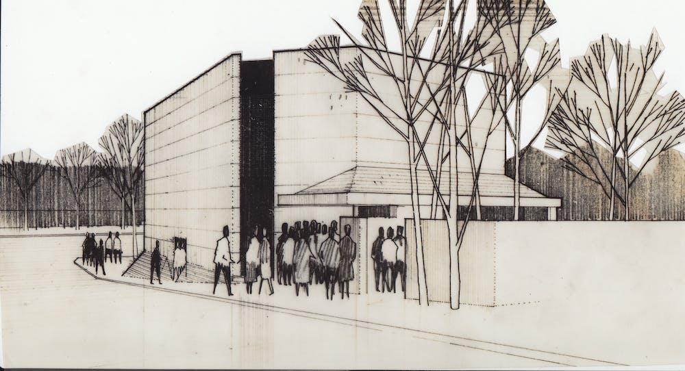 Architectural Drawing Of La Boite Theatre Petrie Terrace Ca 1972 Architect Wilson Architects Collection