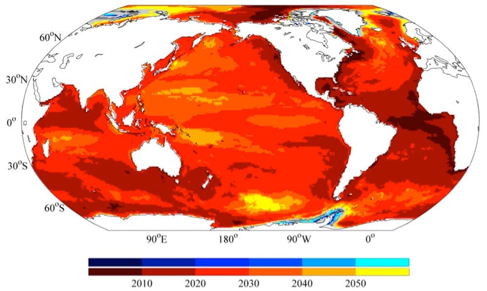 15 years from now, our impact on regional sea level will be