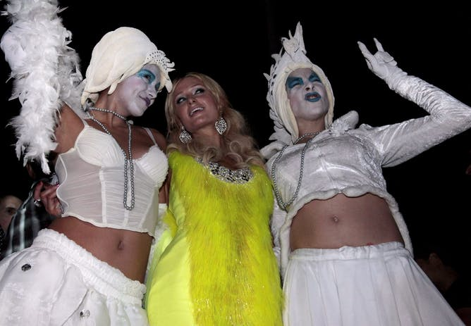humilitainment the sorry story of reality tv paris hilton takes her tv reality show to a party in beirut epa nabil mounzer