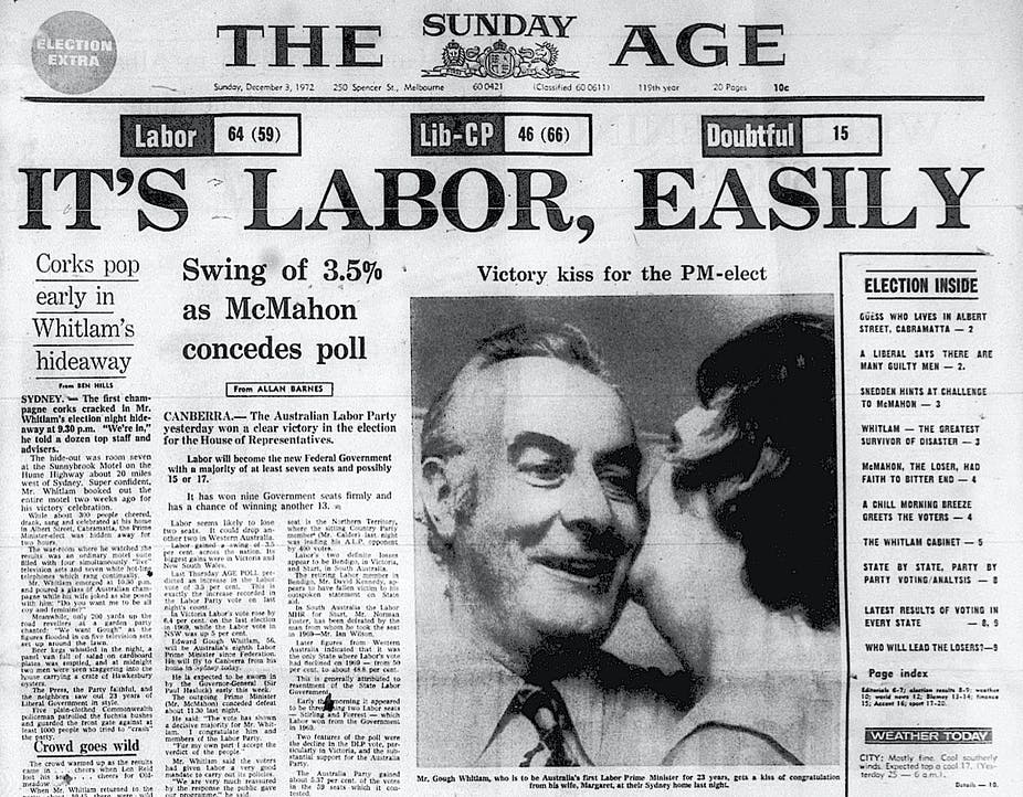 The Sunday Age On Morning After Gough Whitlams 1972 Election Victory