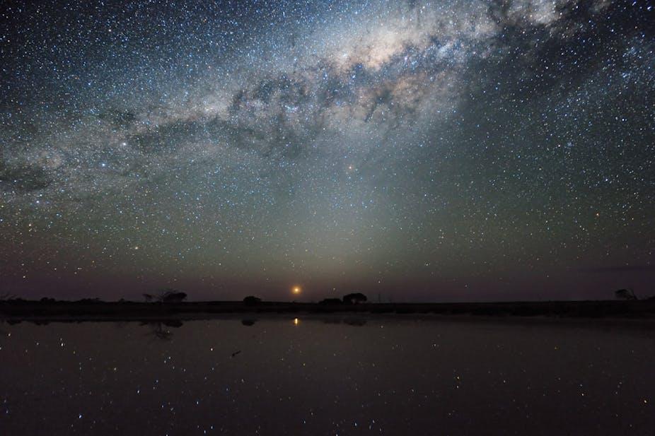 Afbeeldingsresultaat voor evening sky stars