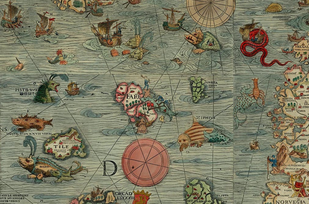 Five maps that will change how you see the world magic mountains and sea serpents the secrets of early arctic maps gumiabroncs Images