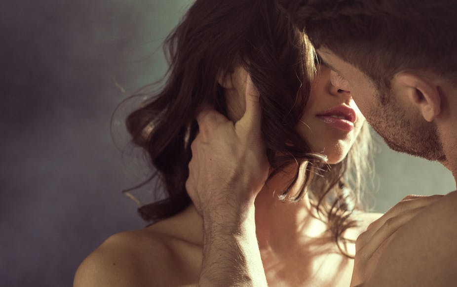 Fantasies shouldn't be confused with wishes or behaviors. Image of couple  kissing via conrado/Shutterstock