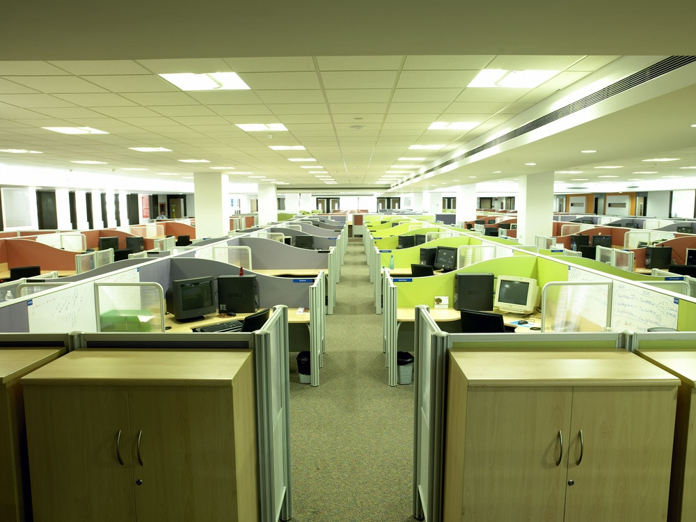 Cubicles Are Gradually Disappearing From Workplaces. Shutterstock