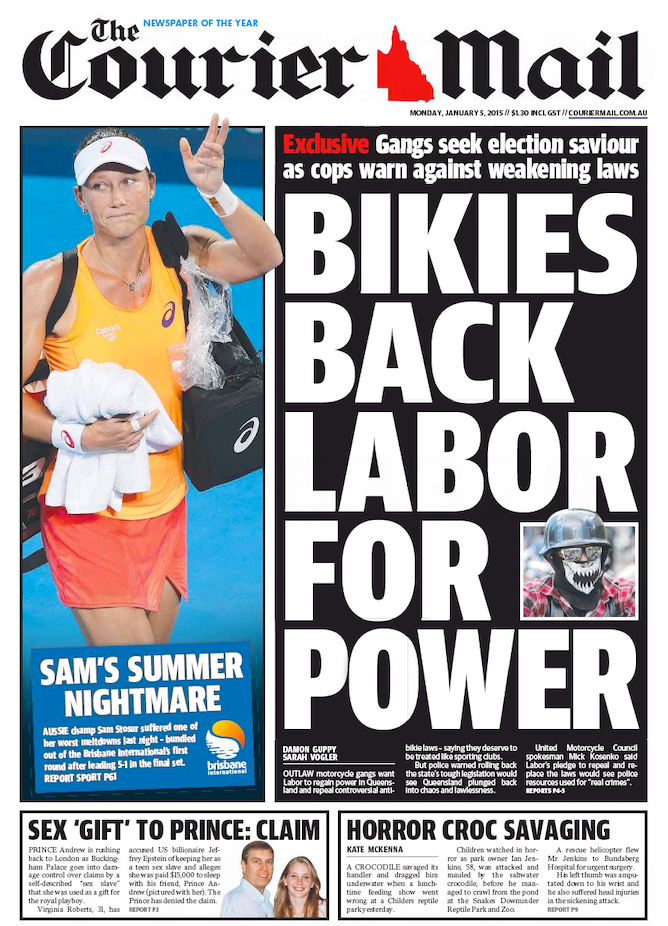 Law And Order Will Be A Fiercely Contested Issue In The Queensland  Election The Couriermail, 5 January 2015