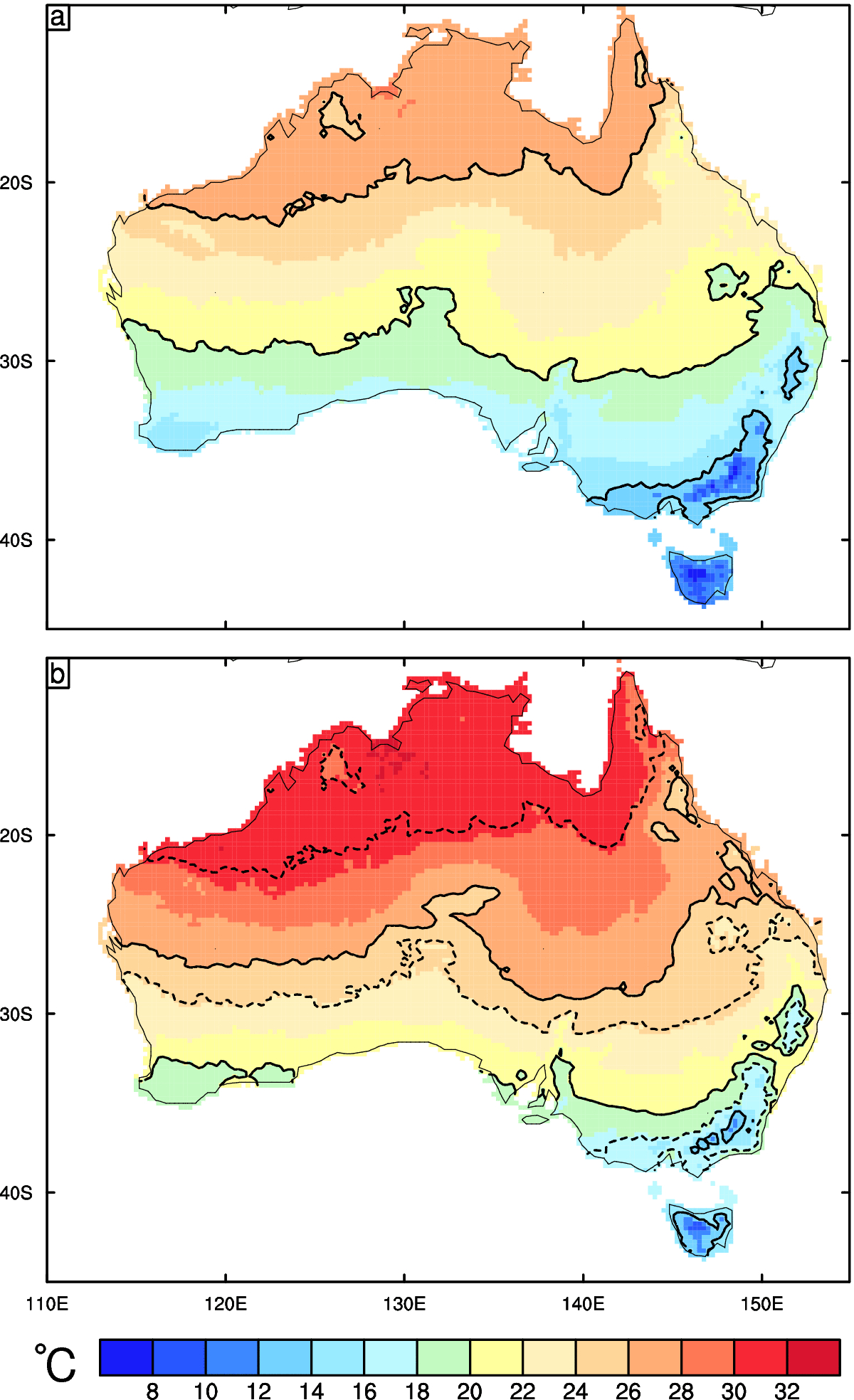Climate projections show Australia is heading for a much warmer future
