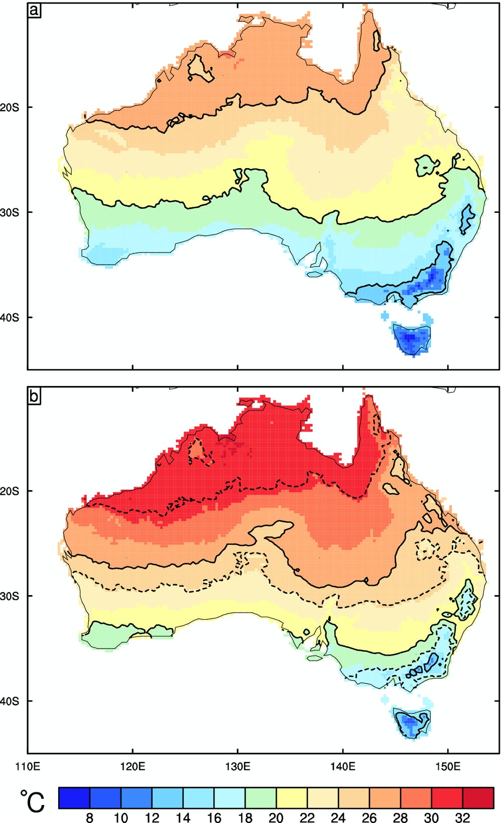 Australia Map Climate.Climate Projections Show Australia Is Heading For A Much Warmer Future