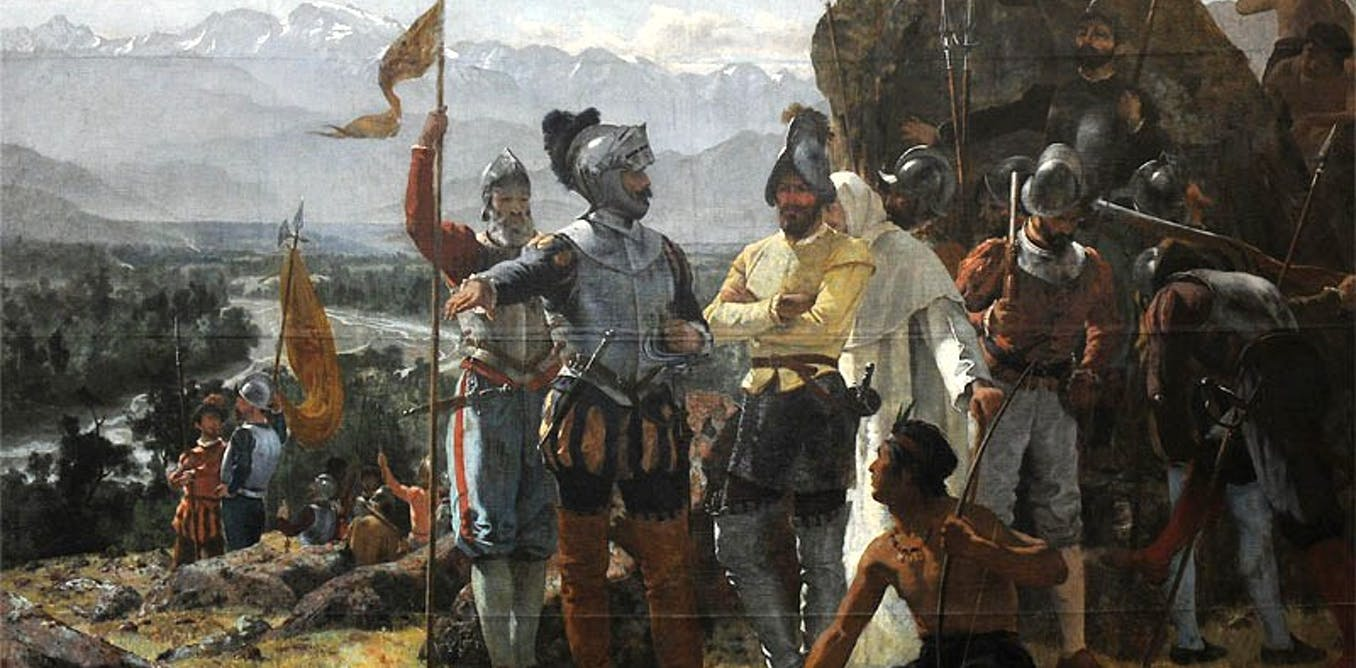 spanish and portuguese conquest of south america The spanish and portuguese people were the first to colonize many parts of south america and central america in the 16th century they also won many parts of north america  in the next century, people from many countries of europe reached the americas.