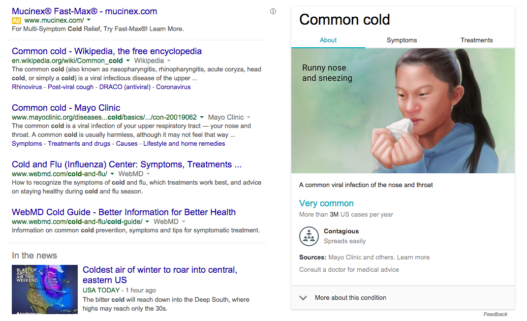Google's new 'medical search' feature is not as useful as it would appear