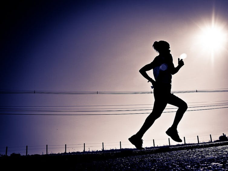 After exercise, runners feel a sense of euphoria. jacsonquerubin/Flickr, CC  BY-NC-SA