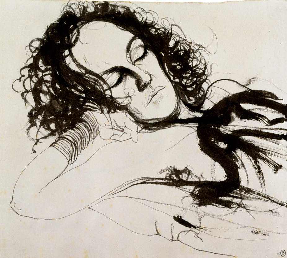 brett whiteley s drawings reveal the artist as a master draughtsman