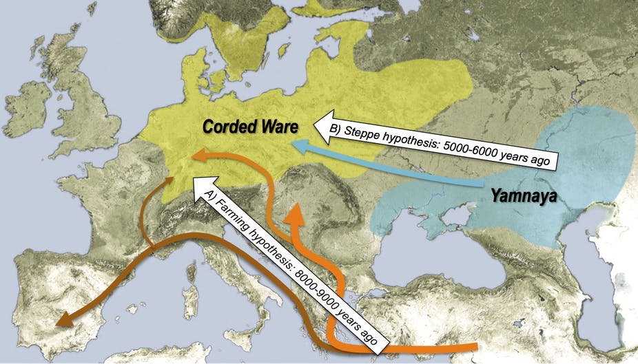 Map Of Uk 5000 Years Ago.European Invasion Dna Reveals The Origins Of Modern Europeans