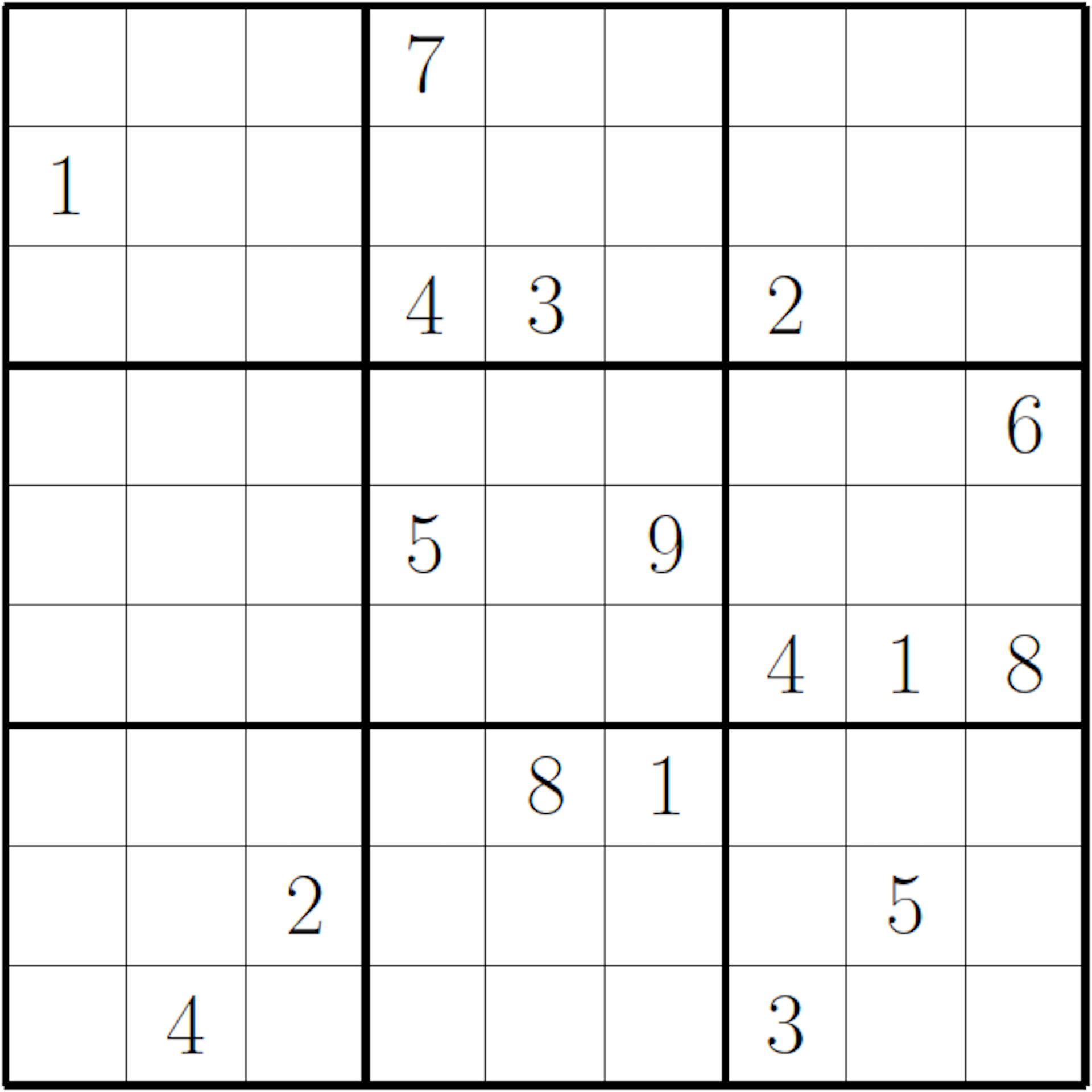 It is a photo of Sudoku Hard Printable for medium hard sud medium hard