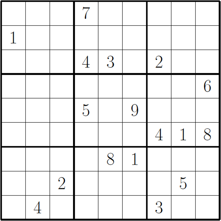 Persnickety image pertaining to hard sudoku puzzles printable