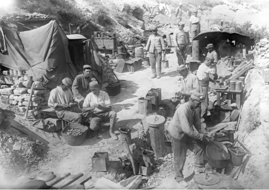 why we don t hear about the french deaths at gallipoli a french field kitchen in use by the french troops in half a mile of the turkish lines on the southern section of gallipoli peninsula 1915