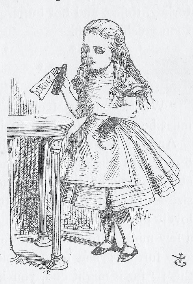 White apron alice in wonderland - Demanding Alice
