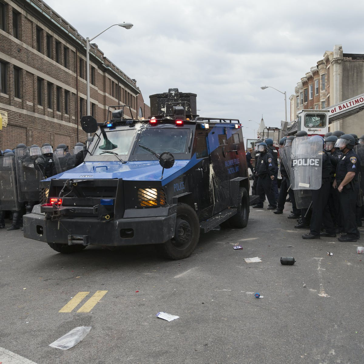 What led to the Baltimore riots?
