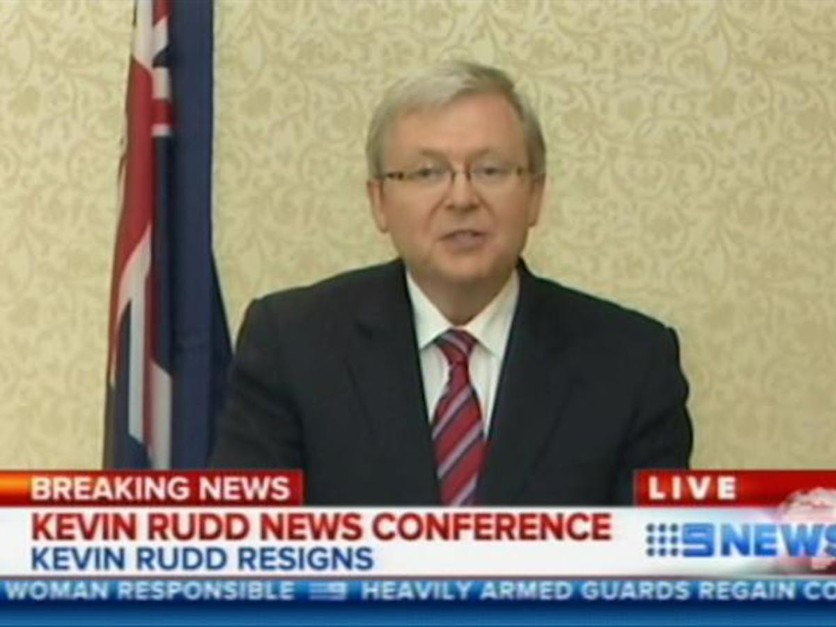 Ambitions To Lead Labor As Kevin Rudd Quits As Foreign Minister