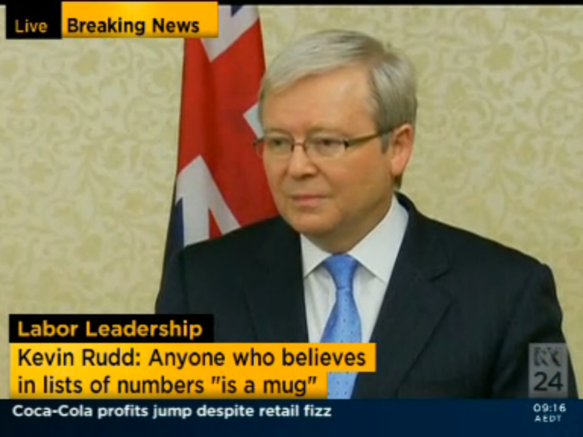 Decoding Kevin Rudd S Leadership Intentions