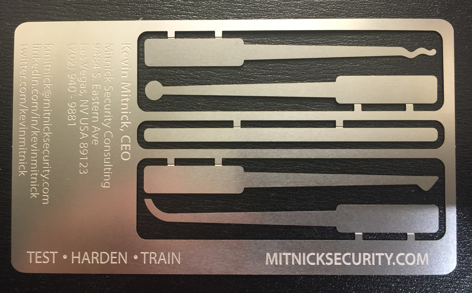 Mitnick S Business Card