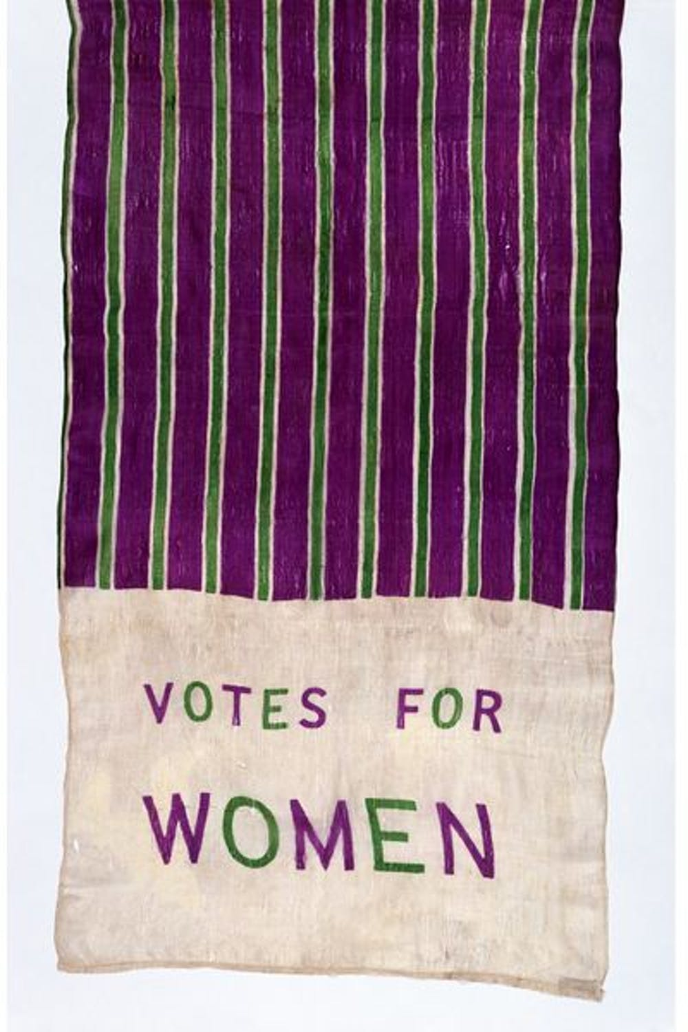 4b6070d9b5a Votes for Women  the scarf as a political statement. © Victoria and Albert  Museum