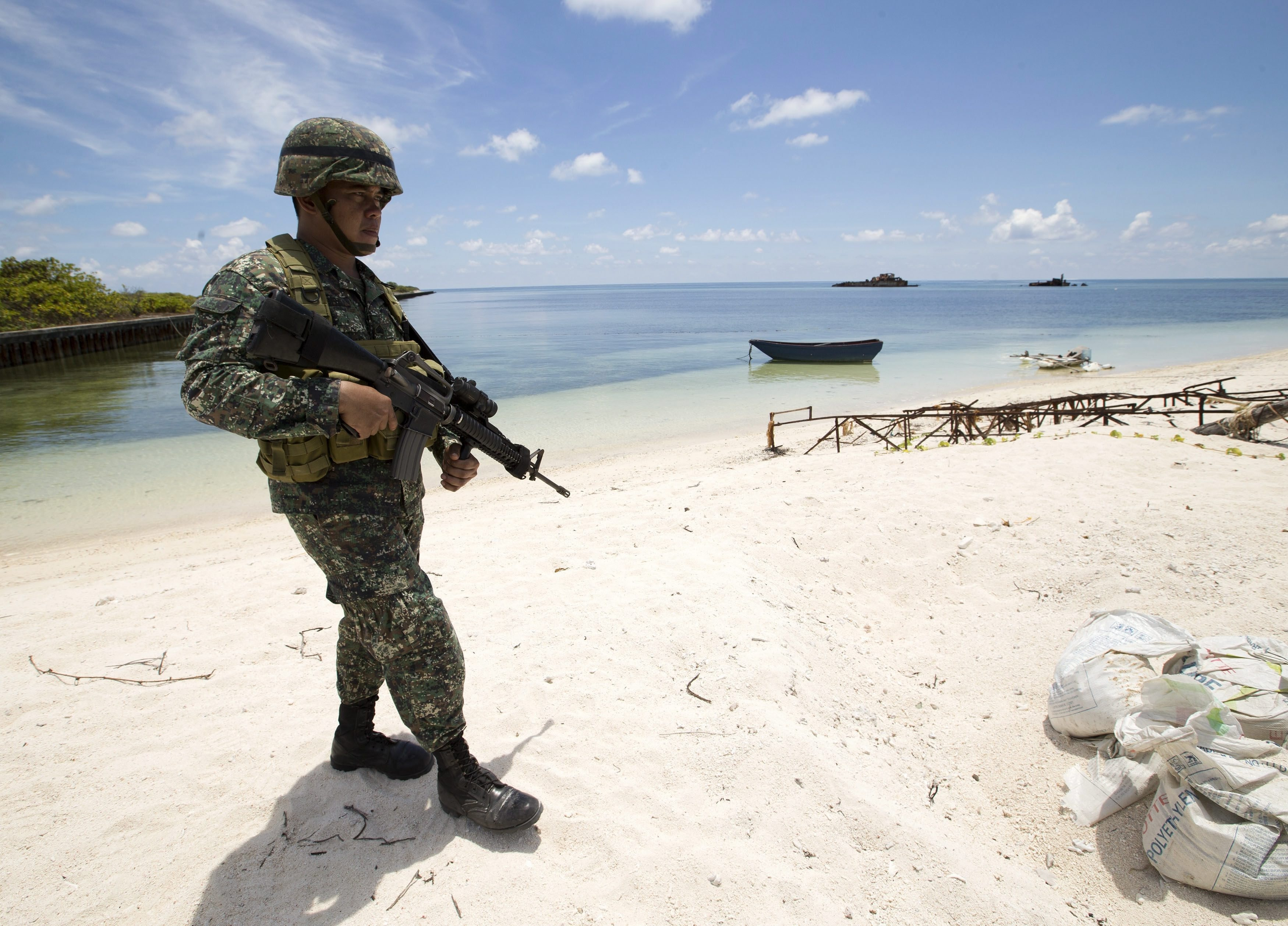 Image result for The US military maintain frequent patrols of the South China Sea in an attempt to keep China's territorial ambitions at bay