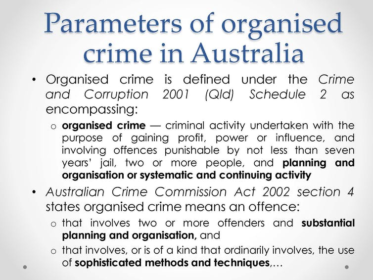 a definition of organized crime