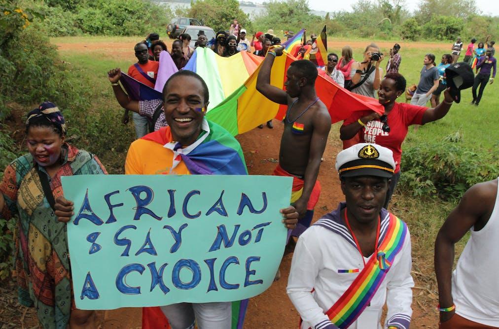 Activists attend Uganda's first gay pride parade at the Entebbe Botanical  Gardens in Kampala, Uganda, in August 2012. Rachel Adams/EPA