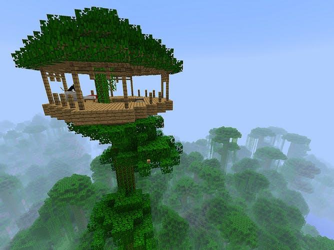 скачать карту дом на дереве в minecraft #9