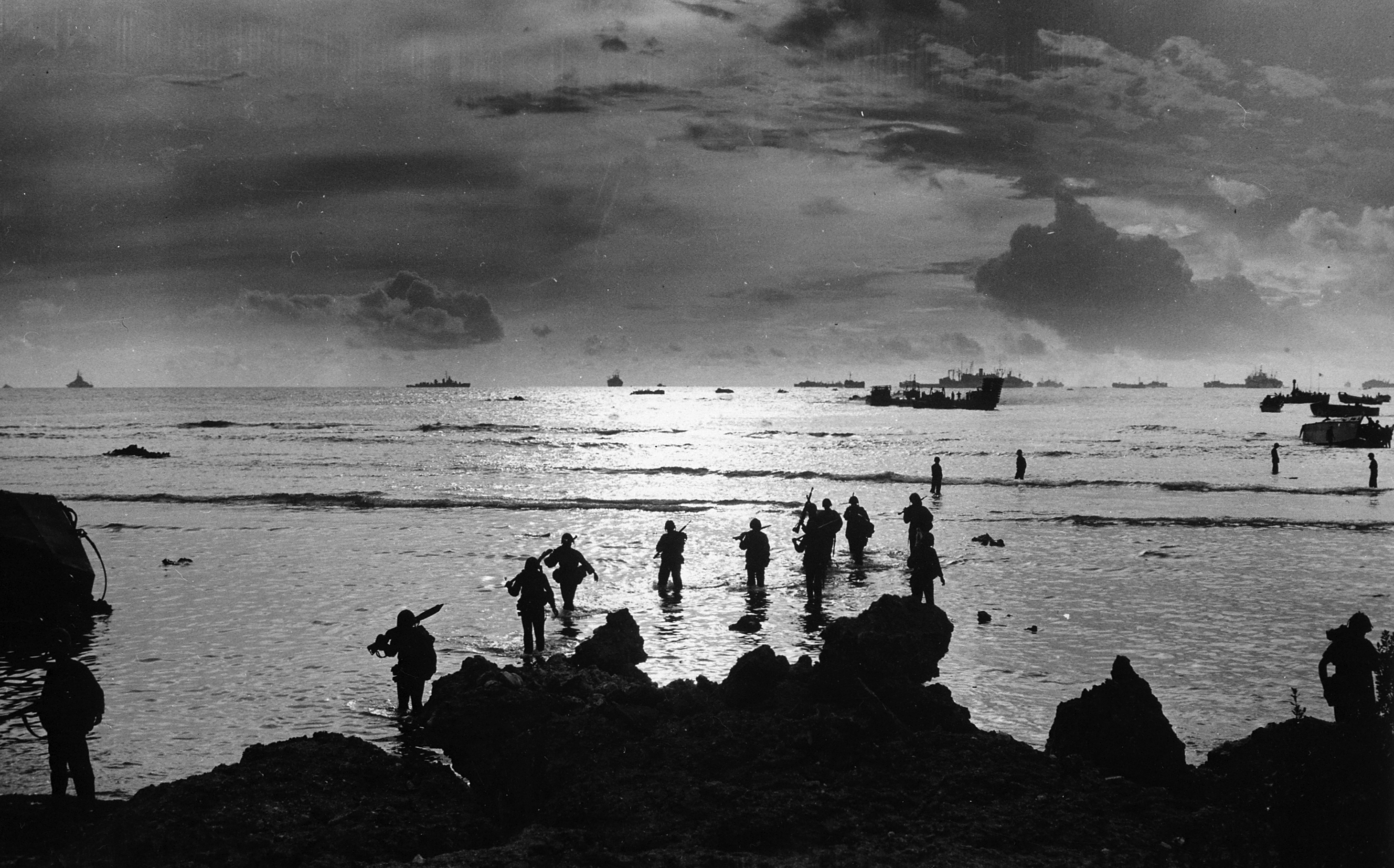 American troops invade Tinian island, 1944. Wikimedia Commons