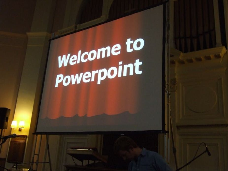 Its not powerpoints fault youre just using it wrong powerpoint isnt the problem its the way it has come to be used gareth saundersflickr cc by sa toneelgroepblik Choice Image