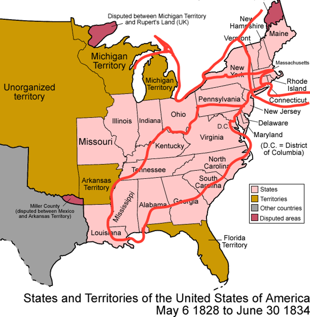 Image result for alexis de tocqueville travelling in america