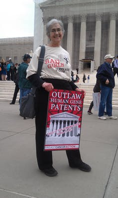 Protest against human gene patent