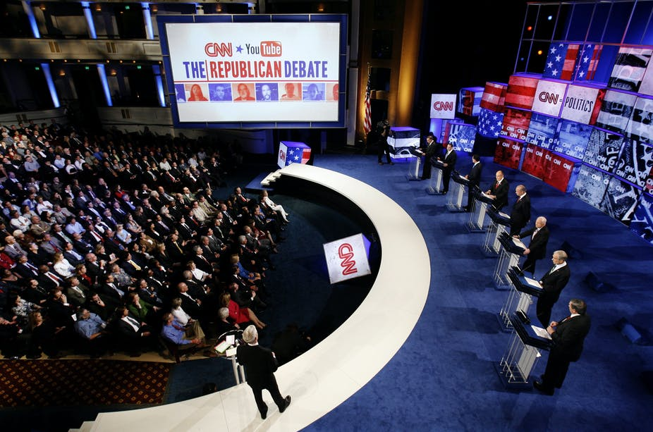 You can post debate questions on Facebook, but Fox News will