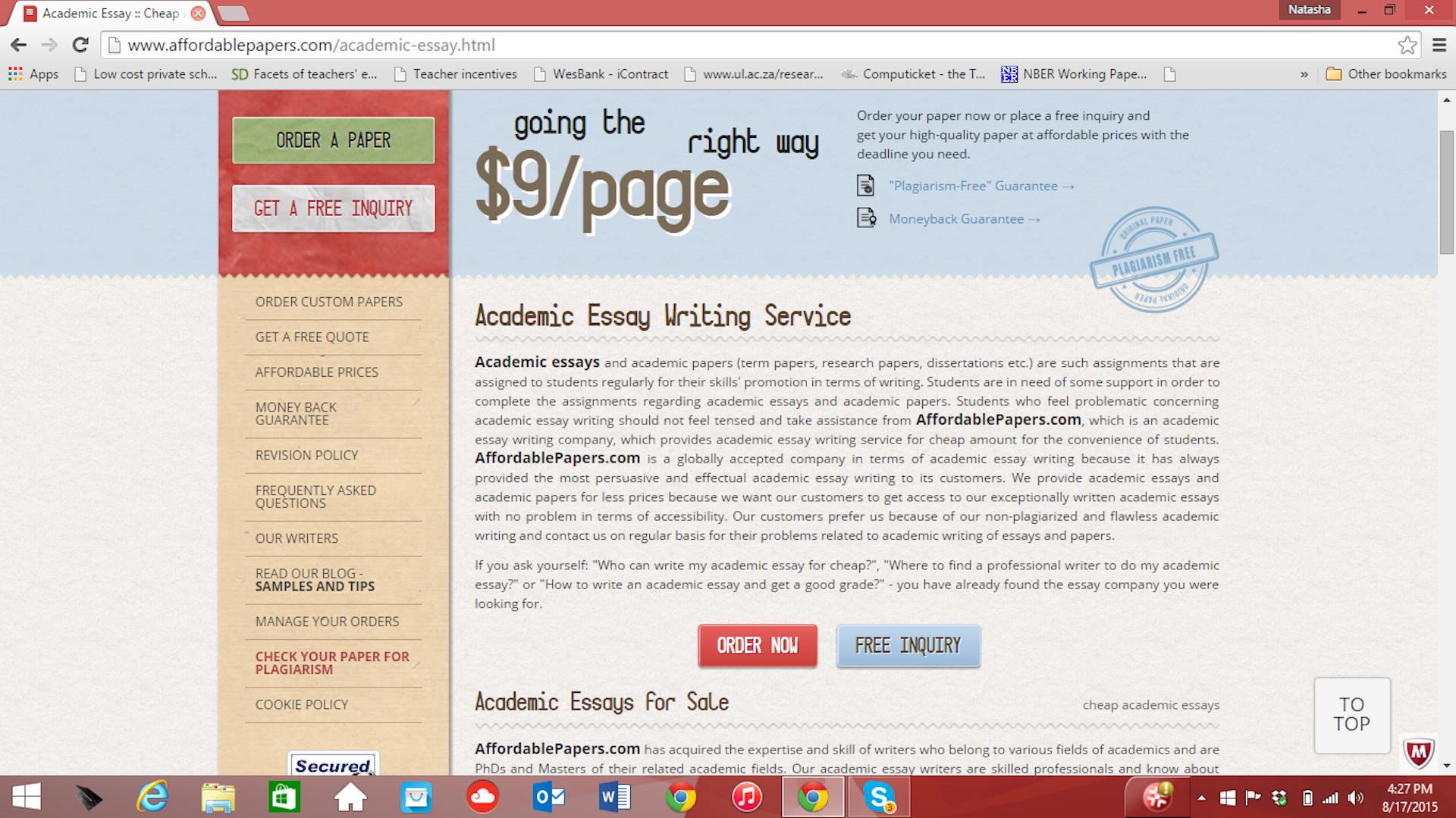 Popular university essay editor service for college