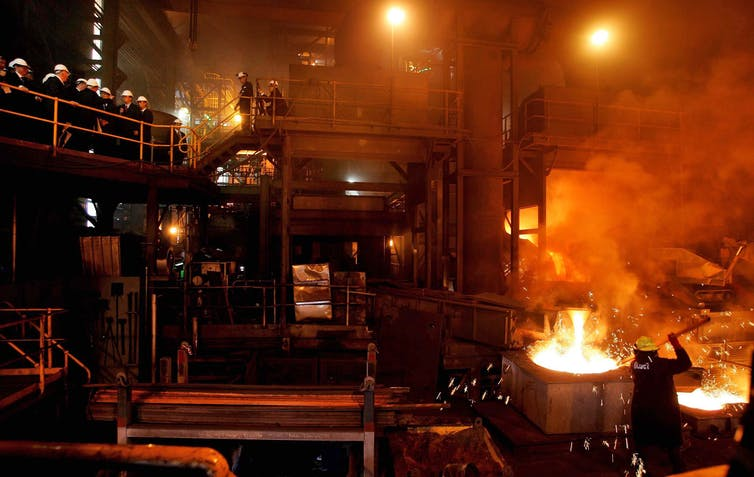 A steelworks